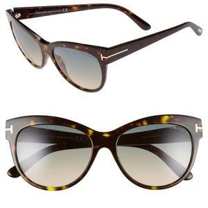 New TOM FORD Cat Eye Havana Sunglasses